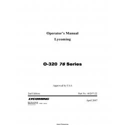 Lycoming O-320 76 Series Operator's Manual 60297-22 v2008