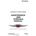 Continental IOF-240-B Maintenance and Overhaul Manual M-22 $19.95