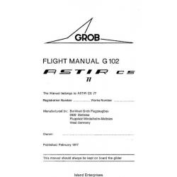 Grob Astir CS 77 Flight Manual/POH G 102 1977 $2.95