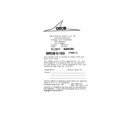 Grob G103 TWIN II Flight Manual/POH $2.95