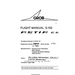 Grob G102 Flight Manual/POH  Astir CS 4.95