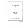 Grumman Goose JRF-4 - JRF-5 Airplanes Basic Weight Checklist and Loading Data 1945