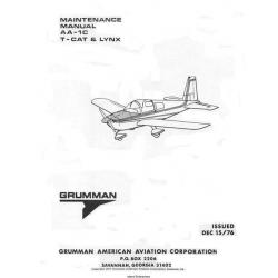 Grumman AA-1C Series T-CAT & LYNX Maintenance Manual 1976 $29.95