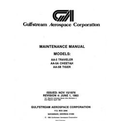 Grumman AA-5, AA-5A, AA-5B  Maintenance Manual Rev.1983