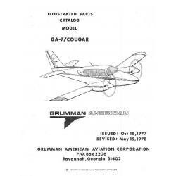 Grumman American GA-7 Cougar Illustrated Parts Catalog Rev 1978 $13.95