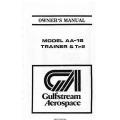 Gulfstream AA-1B Trainer & Tr2 Owner's Manual 1979 AA1B-137-3