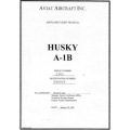 Husky A-1B Aviat Aircraft Inc Airplane Flight Manual/POH $6.95