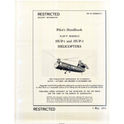 Piasecki Helicopters HUP-1 and 2 Helicopters Flight Handbook 1952