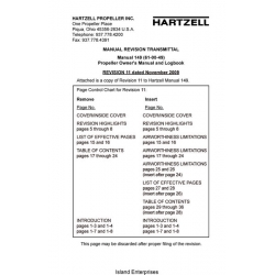Hartzell Manual 149 (61-00-49) Propeller Owner's Manual and Logbook 2009