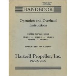 Hartzell Propeller Handbook Operation and Overhaul Instruction 1953