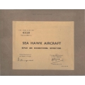 Hawker Sea Hawk Repair and Reconditioning Instructios 1956 - 1995 $13.95