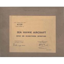 Hawker Sea Hawk Repair and Reconditioning Instructios 1956 - 1995