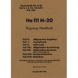 Heinkel He 111 H-20 Flugzeug - Handbuch $9.95