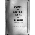 Hercules QX Series Six Cylinder Engines Operation and Maintenance Manual 1948 $4.95