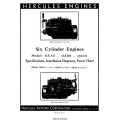 Hercules QXA5, QXB5, QXC5 Six Cylinder Engines Specifications, Installation Diagram & Power Chart