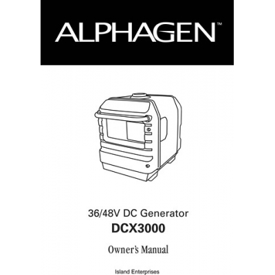 Honda Alphagen DCX3000 36/48V DC Generator Owner's Manual ...
