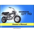 Honda CT70 Trail Motorcycle Owners Manual 1970