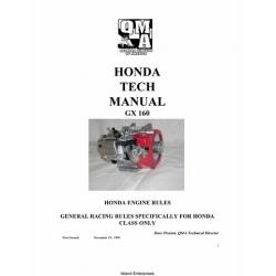 Honda GX 160 QMA Type Engines Tech Manual 1999 - 2000 $9.95