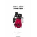 Honda GX100 Spare Parts Manual 2011 $4.95