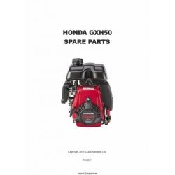 Honda GXH50 Spare Parts Manual 2011