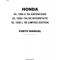Honda Goldwing GL1200A, GL1200I, GL1200L Motorcycles Parts Manual 1984 - 1985 $9.95