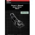 Honda HR215 Rotary Mower Owner's Manual 1990