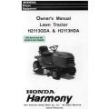 Honda Harmony H2113GDA & H2113HDA Lawn Tractor Owner's Manual 1997