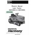 Honda Harmony Lawn Tractor H2013SDA & H2013HDA Owner's Manual 1996