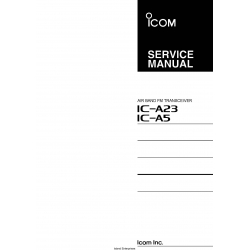 ICOM IC-A23, IC-A5 Air Band FM Transceiver Service Manual $9.95
