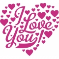 I Love You Hearts! Decal/Stickers!