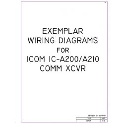 Icom IC-A200/ A210 Comm XCVR Exemplar Wiring Diagrams $4.95