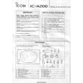 Icom IC-A200 Installation Instructions