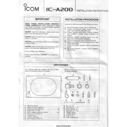 Icom IC-A210 VHF Air Band Transceiver User's Instruction Manual $5.95