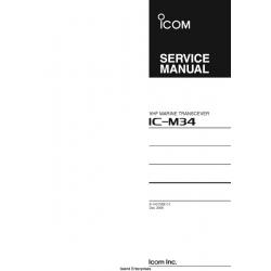 Icom IC-M34 VHF Marine Transceiver Service Manual 2006 $5.95