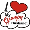 I Love My Grumpy Husband! Vinyl Graphics Red/White/Black Decals!