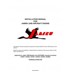 Installation Manual for Jabiru 3300 Aircraft Engine  $5.95