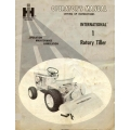 International 1 Rotary Tiller Setting Up Instructions Operator's Manual