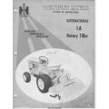 International 1A Rotary Tiller Setting Up Instructions Operator's Manual