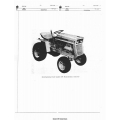 International Cub Cadet 105 Hydrostatic Tractor Parts Manual