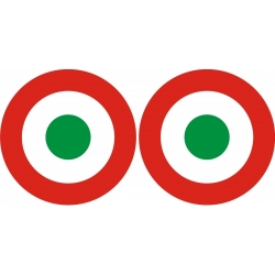 Italy Roundel Aircraft Insignia Decals!