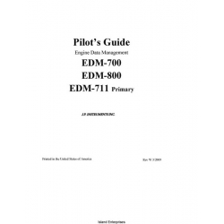 J.P Instruments EDM-700, EDM-800, EDM-711 Primary Pilot's Manual 2009 $5.95