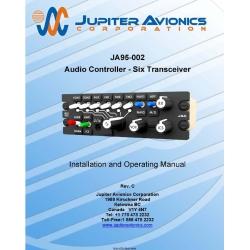 Jupiter Avionics JA95-002 Audio   Controller-Six Transceiver Installation and Operating Manual