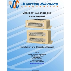 Jupiter Avionics JRS14-001 and JRS28-001 Relay Switches Installation and Operation Manual
