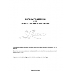Jabiru 2200 Aircraft Engine Installation Manual 2005 $5.95