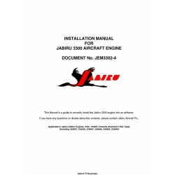 Jabiru 3300 Aircraft Engine Installation Manual 2009 $5.95