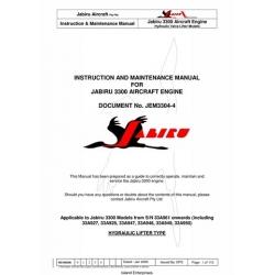 Jabiru 3300 Aircraft Engine JEM3304-4 Instruction & Maintenance Manual 2008 $9.95