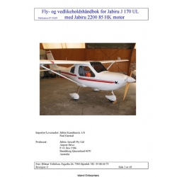 Jabiru J160-J170 UL, 2200 85 HK Motor Owner's Manual 2007 $4.95