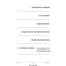 Jabiru J230 and J430 Aircraft Service Manual 2004 $4.95