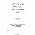 Jacobs R-755A Aircarft Engine Operator's Manual $5.95