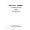 Jacobs R755A and R755B Aircraft Engine Overhaul Manual 1956 $5.95